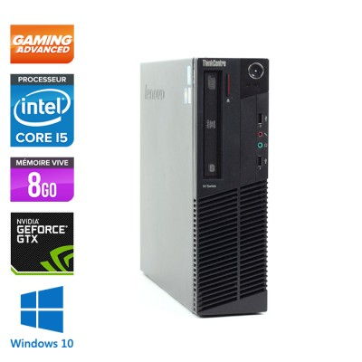 Lenovo ThinkCentre M92P SFF - i5 3470 - 8 Go - HDD 500 Go - Nvidia GTX 1050 - Windows 10