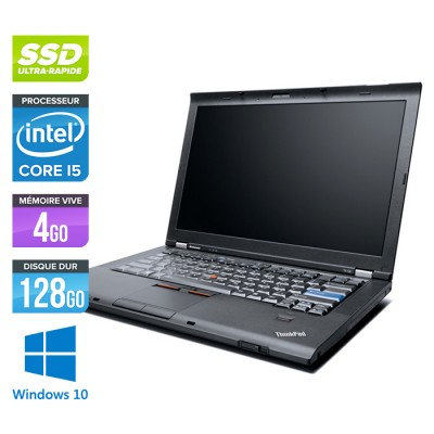Lenovo ThinkPad T410S - Core i5 - 4Go - 128Go SSD - Windows 10