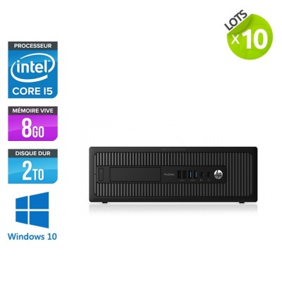 lot de 10 HP EliteDesk 600 G1 SFF - i5 - 8Go - 2To HDD - Windows 10