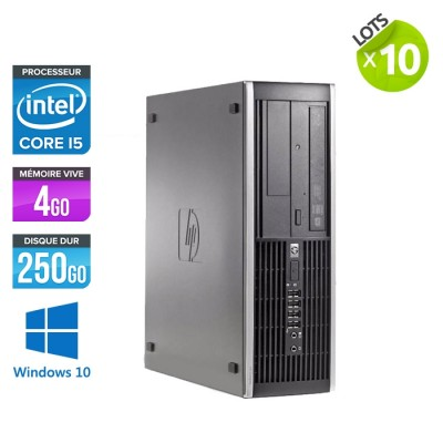Lot de 10 HP Elite 8200 SFF - i5 - 4go - 250go - win10