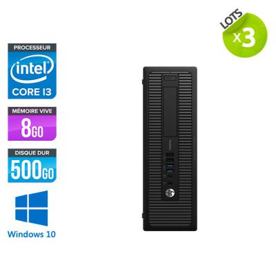 Lot de 3 HP 600 G1 SFF - i3 - 8Go - 500 HDD - W10