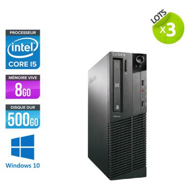 Lot 3 pc bureau reconditionné - Lenovo ThinkCentre M81 SFF - Intel Core i5 - 8Go - 500Go HDD - Windows 10