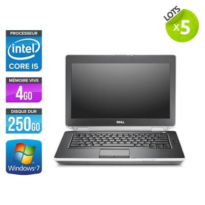 Lot 5 Dell Latitude E6430 - i5 - 4Go - 250Go HDD - Windows 7 Pro