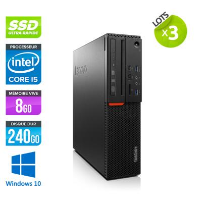 Lot de 3 Lenovo ThinkCentre M800 SFF - i5 - 8Go - 240 SSD - Windows 10