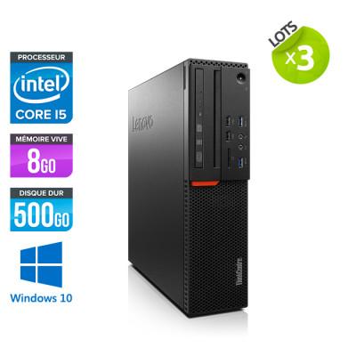 Lot de 3 Lenovo ThinkCentre M800 SFF - i5 - 8Go - 500 HDD - Windows 10