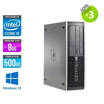 lot de 3 HP Elite 8300 SFF - i5 - 8Go - 500Go HDD - W10