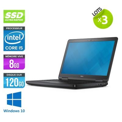 Lot de 3 Pc portable - Dell latitude E5540 - i5 - 8Go - 120 Go SSD - Windows 10