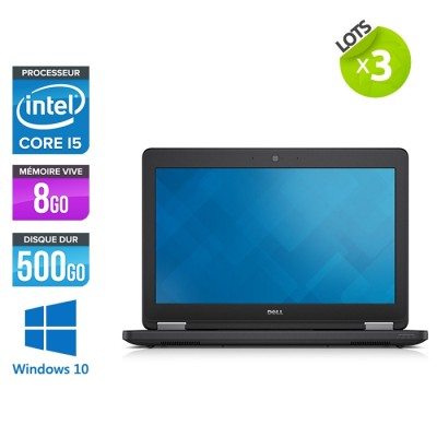 Lot de 3 Dell Latitude E5250 - i5 - 8Go - 500Go HDD - Windows 10