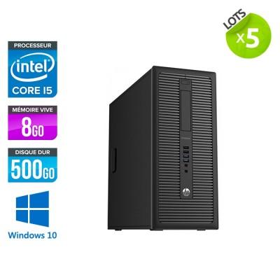 lot de 5 -HP EliteDesk 800 G1 Tour - i5 - 8Go - 500Go HDD - Windows 10