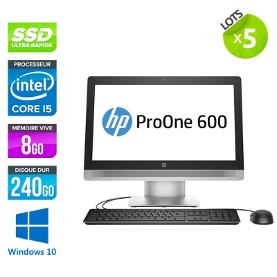 lot de 5 Tout-en-un HP ProOne 600 G2 AiO - i5 - 8Go - SSD 240Go - Windows 10
