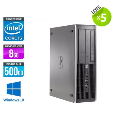 lot de 5 HP Elite 8300 SFF - i5 - 8Go - 500Go HDD - W10