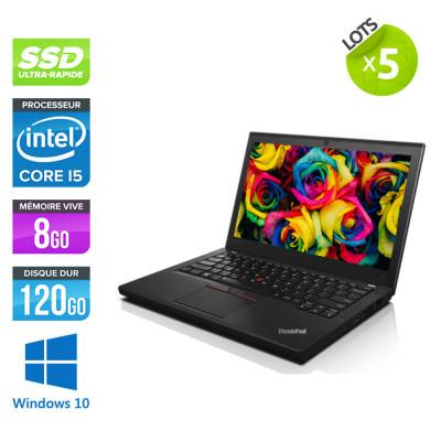 Lot 5 Lenovo ThinkPad X250 - i5 - 8 Go - 120 Go SSD - Windows 10