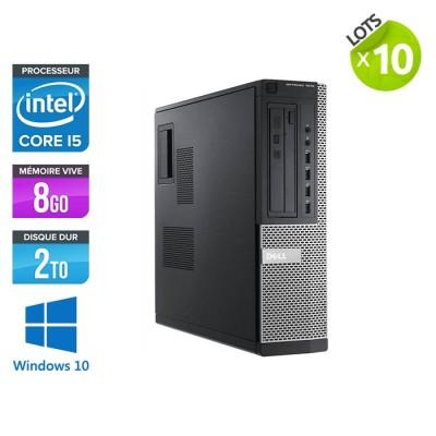 lot de 10 ordinateurs de bureau Dell Optiplex 7010 - i5 - 8 Go - 2 To HDD - Windows 10