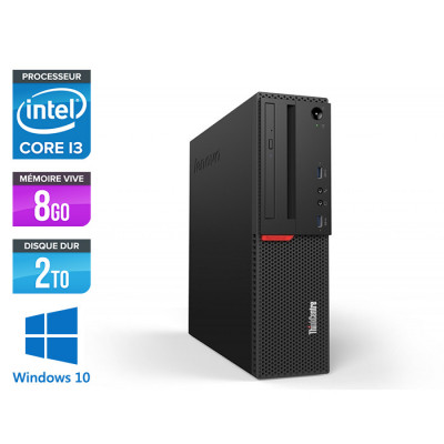 Pc de bureau reconditionne Lenovo ThinkCentre M700 SFF - Intel core i3 - 8Go RAM DDR4 - 2To HDD - Windows 10 Famille
