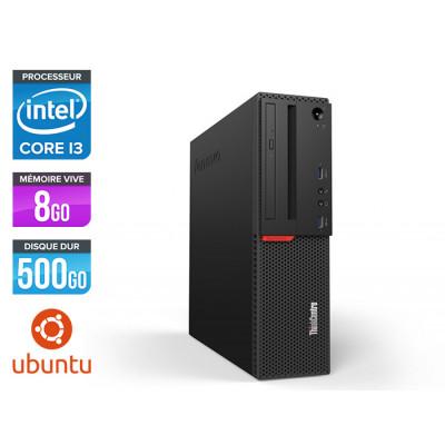 Pc de bureau reconditionne Lenovo ThinkCentre M700 SFF - Intel core i3 - 8Go RAM DDR4 - 500Go HDD - Linux