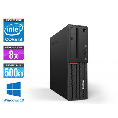 Pc de bureau reconditionne Lenovo ThinkCentre M700 SFF - Intel core i3 - 8Go RAM DDR4 - 500Go HDD - Windows 10 Famille