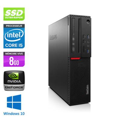 Lenovo ThinkCentre M800 SFF - i5 - 8Go - 240Go SSD - GT1030 - Windows 10