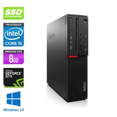 Lenovo ThinkCentre M800 SFF - i5 - 8Go - 240 SSD - GTX1050 - Windows 10
