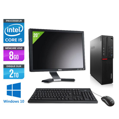 Pack Lenovo ThinkCentre M800 SFF - i5 - 8Go - 2To HDD - Windows 10 - Ecran 22 pouces