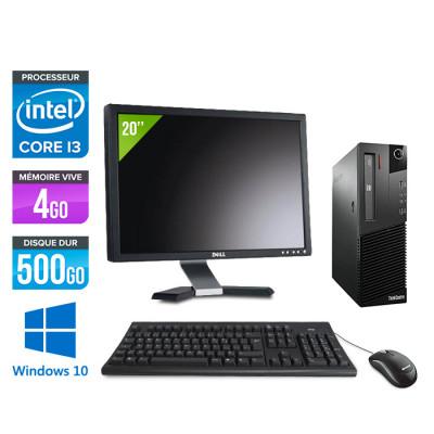 "Lenovo ThinkCentre M82 SFF - i3 - 4Go - 500Go HDD - Windows 10 - Écran 20"""