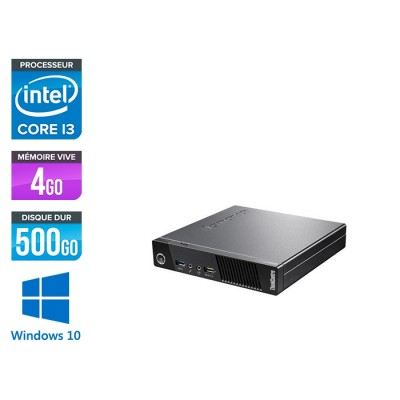 Lenovo M93P Tiny - i3 - 4 Go - 500 Go HDD - Windows 10