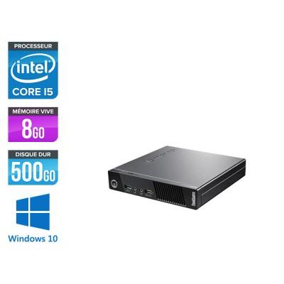 Lenovo M93P Tiny USFF - i5 - 8 Go - 500 Go HDD - Windows 10