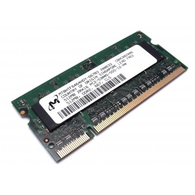 Micron - SO-DIMM - 512 MB - DDR2 -  PC2 5300S - 667 Mhz - MT8HTF6464HDY-667B3