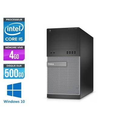 Ordinateur de bureau - Dell Optiplex 7020 MT reconditionné - Core i5 - 4Go - 500Go HDD - Win 10