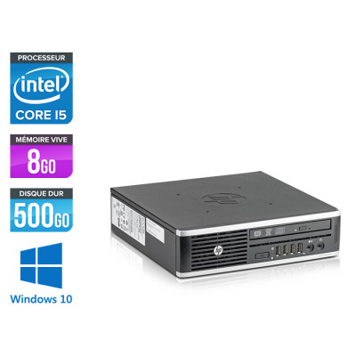 Pc de bureau reconditionné - HP Elite 8300 USDT - 8Go - 500Go HDD - Windows 10