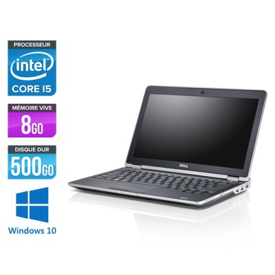 Ordinateur portable reconditionné - Dell Latitude E6230 - Core i5 - 8 Go - 500 Go HDD - Webcam - Windows 10