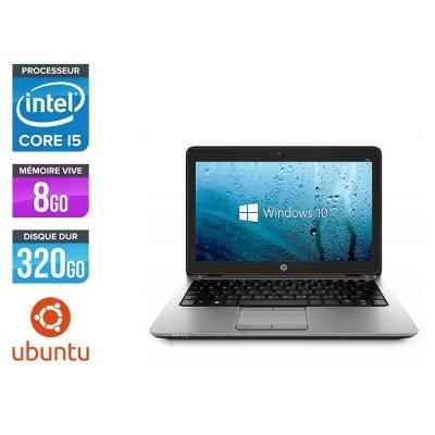 Ordinateur portable reconditionné - HP Elitebook 820 - i5 4200U - 8 Go - 320 Go HDD - Ubuntu / Linux