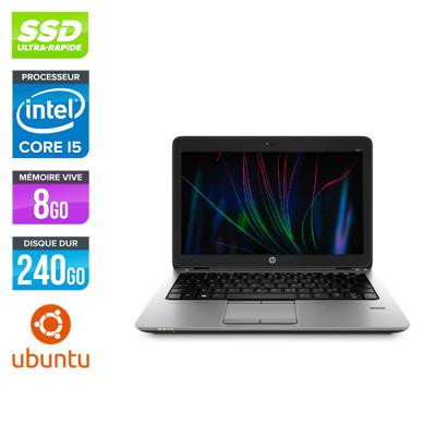 Ordinateur portable reconditionné - HP Elitebook 820 - i5 4200U - 8 Go - SSD 240 Go - Linux