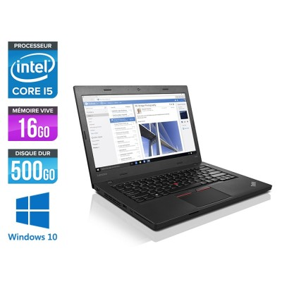 Ordinateur portable reconditionné - Lenovo ThinkPad L460 - i5 - 16Go - 500Go HDD - Windows 10