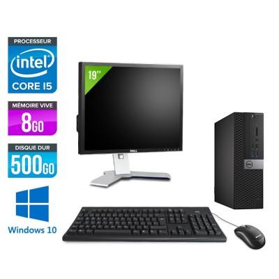 Pack Dell Optiplex 7040 SFF - i5 - 8Go - 500Go - Win 10 - Ecran 19