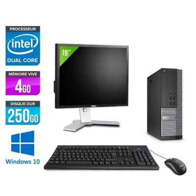 Pack Dell  Ecran 19 - Optiplex 7020 SFF - Intel pentium - 4go - 250go - hdd - windows 10