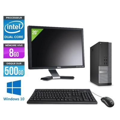 Pack Dell  Ecran 20 - Optiplex 7020 SFF - Intel pentium - 8go - 500go - hdd - windows 10