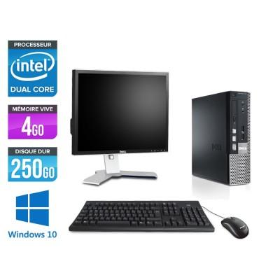 Dell Optiplex 790 USFF - G630 - 4Go - 250Go - Windows 10 - Ecran 19