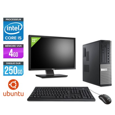 Dell Optiplex 7010 Desktop + Ecran 22'' - Core i5 - 4Go - 250Go - Linux