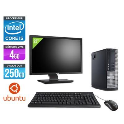 Dell Optiplex 7010 SFF + Ecran 22'' - i5 - 4Go - 250Go - Linux