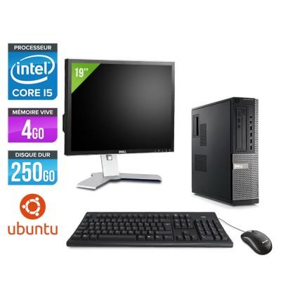 Dell Optiplex 790 Desktop + Ecran 19'' - i5 - 4Go - 250Go HDD - Linux