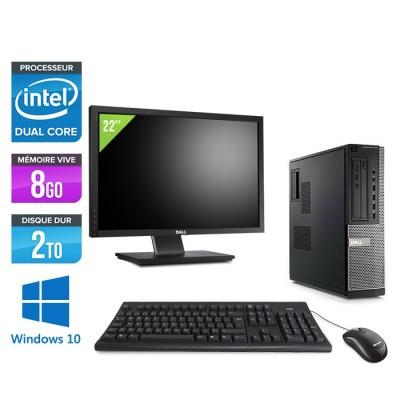 Dell Optiplex 790 Desktop + Ecran 22'' - G630 - 8Go - 2To HDD - Windows 10 Professionnel