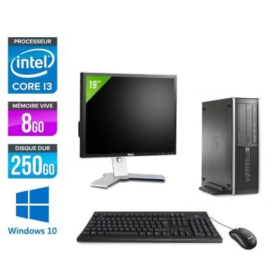 Pack HP 6300 Pro SFF - i3 - 8Go- 250 Go HDD - Windows 10 + Ecran 19
