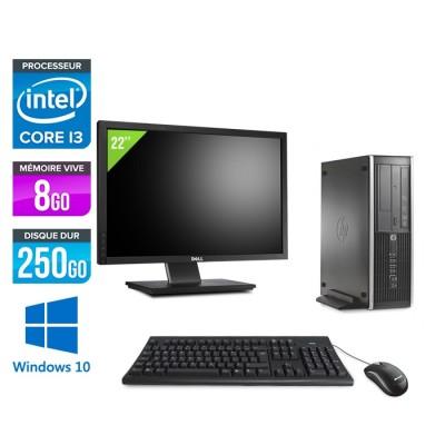 Pack HP 6300 Pro SFF - i3 - 8Go- 250 Go HDD - Windows 10 + Ecran 22