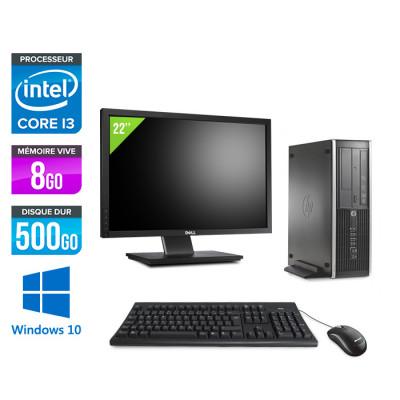 Pack HP 6300 Pro SFF - i3 - 8Go - 500 Go HDD - Windows 10 + Ecran 22