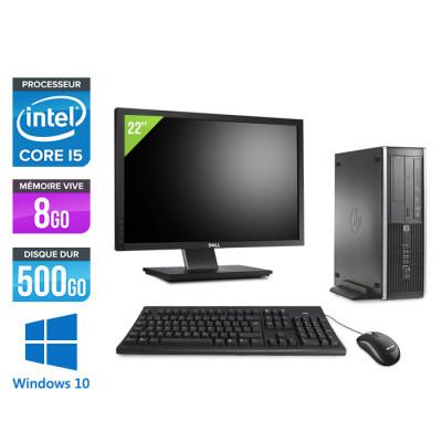 Pack HP 6300 Pro SFF - i5 - 8Go - 500 Go HDD - Windows 10 + Ecran 22
