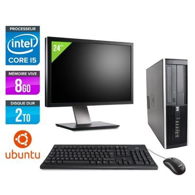 "HP Elite 8200 SFF + Ecran 24"" - i5 - 8Go - 2to - Linux"