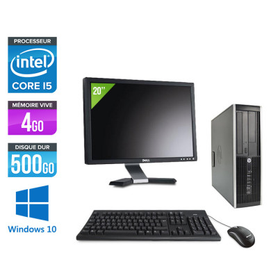 "HP Elite 8300 SFF - Core i5 - 4Go - 500Go + Ecran 20"" - Windows 10"