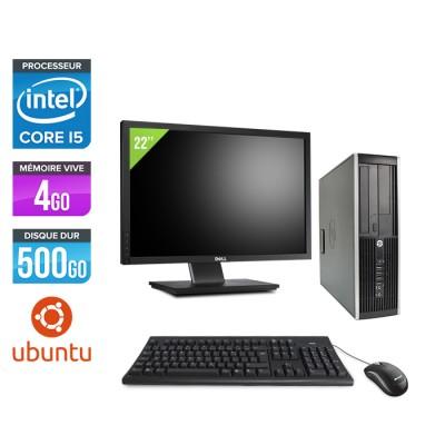 "HP Elite 8300 SFF - Core i5 - 4Go - 500Go + Ecran 22"" - Linux"