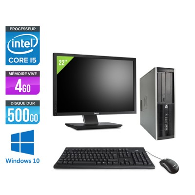 "HP Elite 8300 SFF - Core i5 - 4Go - 500Go + Ecran 22"" - Windows 10"