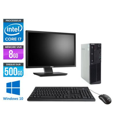 Pack Lenovo M83 SFF - i7 - 8 Go - 500Go HDD - Windows 10 + Ecran 22